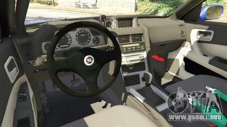 GTA 5 Nissan Skyline R34 GT-R 2002 v0.8 [Beta] vista lateral derecha