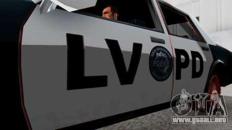Police LV with Lightbars para la visión correcta GTA San Andreas