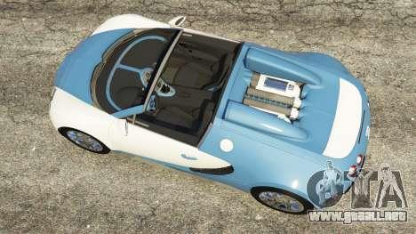 GTA 5 Bugatti Veyron Grand Sport v2.0 vista trasera