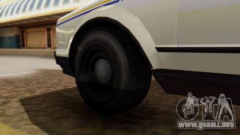 GTA 5 Albany Esperanto Police Roadcruiser para GTA San Andreas vista posterior izquierda