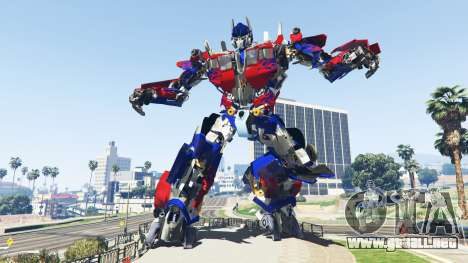 La Estatua De Optimus Prime para GTA 5