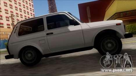 VAZ 2121 Niva BUFG Edición para GTA San Andreas vista hacia atrás