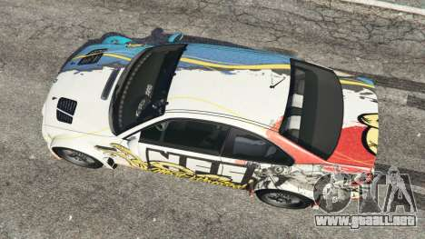 GTA 5 BMW M3 GTR E46 PJ4 vista trasera