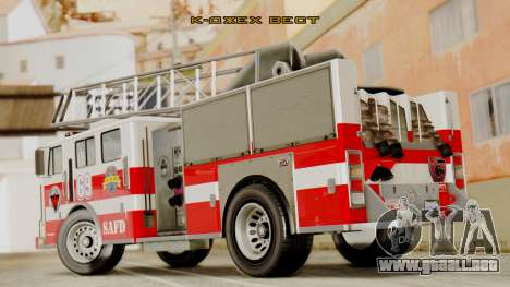 SAFD Fire Lader Truck Flat Shadow para GTA San Andreas left