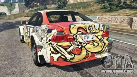 GTA 5 BMW M3 GTR E46 PJ4 vista lateral izquierda trasera