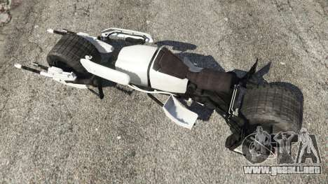 GTA 5 Batpod vista trasera