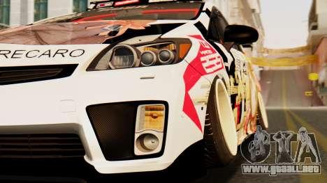 Toyota Prius JDM 2011 Itasha para GTA San Andreas vista hacia atrás