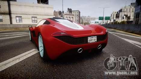 GTA V Progen T20 para GTA 4 Vista posterior izquierda