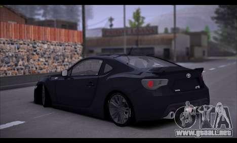 Toyota GT86 2012 BUFG Edition para la visión correcta GTA San Andreas