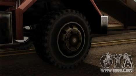 New Flatbed Industrial para GTA San Andreas vista posterior izquierda