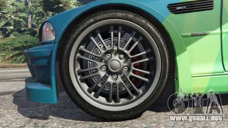 GTA 5 BMW M3 GTR E46 PJ1 vista lateral trasera derecha