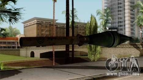 Original HD Missile para GTA San Andreas segunda pantalla