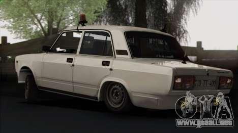 VAZ 2107 Avtosh Style para las ruedas de GTA San Andreas