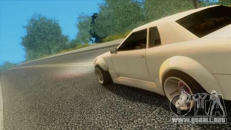 Elegy Rocket Bunny Edition para vista inferior GTA San Andreas