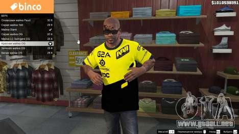GTA 5 T-shirt para Natus Vincere Franklin