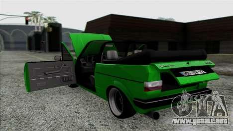 Volkswagen Golf Cabrio VR6 para visión interna GTA San Andreas