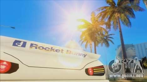 Elegy Rocket Bunny Edition para visión interna GTA San Andreas