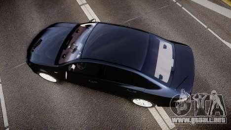Ford Falcon FG XR6 Unmarked Police [ELS] v2.0 para GTA 4 visión correcta