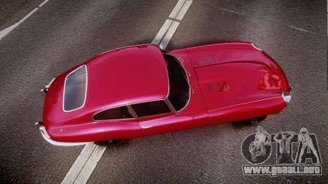 Jaguar E-type 1961 para GTA 4 visión correcta