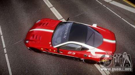 Ferrari 599XX 2010 Scuderia Ferrari para GTA 4 visión correcta