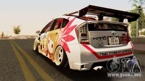 Toyota Prius JDM 2011 Itasha para GTA San Andreas left
