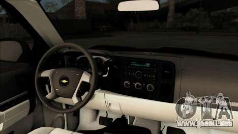 Chevrolet Silverado 1500 LT 2010 para GTA San Andreas vista hacia atrás