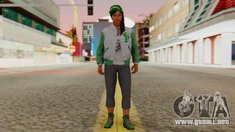 [GTA5] Fam Girl para GTA San Andreas segunda pantalla