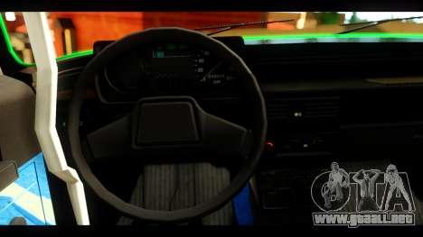 Moskvich 2140 Peklo (Infierno Equipo para GTA San Andreas vista posterior izquierda