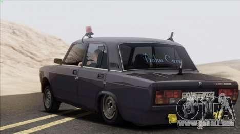 VAZ 2107 Avtosh Style para la visión correcta GTA San Andreas