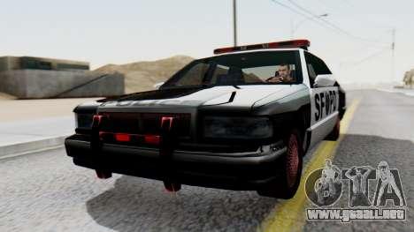 Police SF with Lightbars para GTA San Andreas