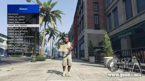 GTA 5 Scenario Menu 1.1 quinta captura de pantalla