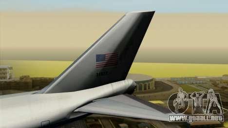 Boeing 747 E-4B para GTA San Andreas vista posterior izquierda