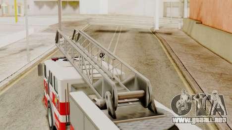 SAFD Fire Lader Truck Flat Shadow para la visión correcta GTA San Andreas