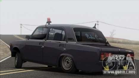 VAZ 2107 Avtosh Style para GTA San Andreas interior
