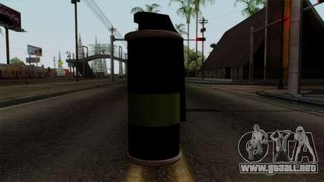 Original HD Tear Gas para GTA San Andreas tercera pantalla