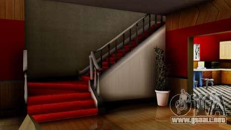 New CJs House para GTA San Andreas quinta pantalla