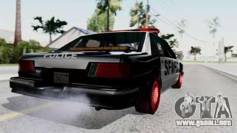 Police SF with Lightbars para GTA San Andreas left