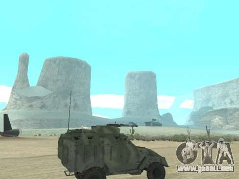 El APC 40 para GTA San Andreas vista hacia atrás