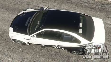 BMW M3 GTR E46 black on white para GTA 5
