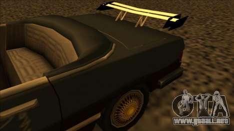 FreeShow Feltzer para GTA San Andreas vista hacia atrás