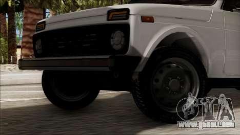 VAZ 2121 Niva BUFG Edición para GTA San Andreas vista posterior izquierda