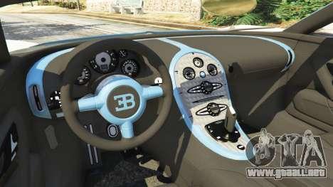 GTA 5 Bugatti Veyron Grand Sport v2.0 vista lateral trasera derecha