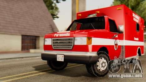 SAFD Ambulance para la visión correcta GTA San Andreas