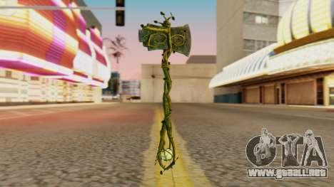 Nature Axe para GTA San Andreas segunda pantalla