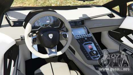 GTA 5 Lamborghini Aventador LP700-4 Police vista lateral derecha