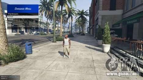 GTA 5 Scenario Menu 1.1 segunda captura de pantalla