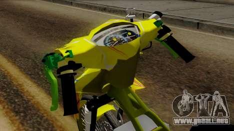 Jupiter Mx Drag v1 para la visión correcta GTA San Andreas