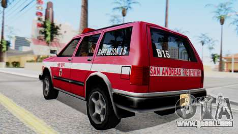 FDSA Fire SUV para GTA San Andreas left