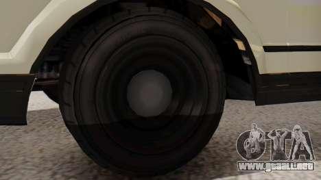 GTA 5 Albany Esperanto Police Roadcruiser IVF para GTA San Andreas vista posterior izquierda