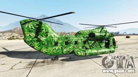 GTA 5 Western Company Cargobob Cannabis segunda captura de pantalla